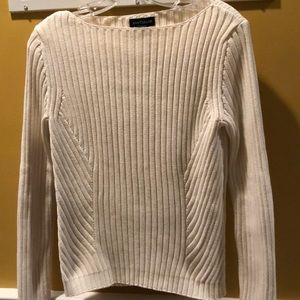 Ann Taylor pullover cream sweater